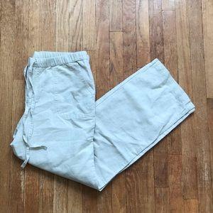Liz Claiborne Cream Linen Pants